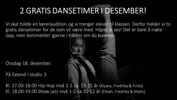 Gratis Dansetimer I Desember
