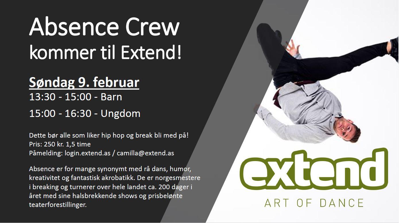 YES! Absence Crew Kommer Til Oss Søndag 9. Februar